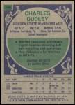 1975 Topps #194  Charles Dudley  Back Thumbnail