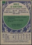 1975 Topps #176  Mike D'Antoni  Back Thumbnail