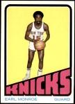 1972 Topps #73  Earl Monroe   Front Thumbnail