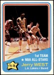 1972 Topps #164   -  Jerry West  NBA All-Star - 1st Team Front Thumbnail
