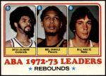 1973 Topps #238   -  Artis Gilmore / Mel Daniels / Bill Paultz ABA Rebounds Leaders Front Thumbnail
