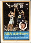 1973 Topps #200  Billy Cunningham  Front Thumbnail