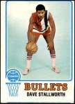 1973 Topps #133  Dave Stallworth  Front Thumbnail
