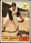 1961 Topps #54  Earl Francis  Front Thumbnail