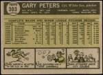 1961 Topps #303  Gary Peters  Back Thumbnail