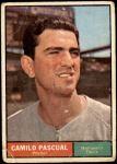 1961 Topps #235  Camilo Pascual  Front Thumbnail