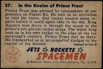 1951 Bowman Jets Rockets and Spacemen #57   In the Realm of Prince Frost Back Thumbnail