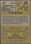 1974 Topps #126 AP  -  Tom Mack All-Pro Back Thumbnail