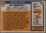 1976 Topps #21  Jim Yarbrough  Back Thumbnail