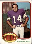 1976 Topps #479  Fred Cox  Front Thumbnail