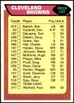 1976 Topps #456   Browns Team Checklist Front Thumbnail