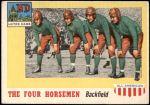 1955 Topps #68   -  Jim Crowley / Elmer Layden / Don Miller / Harry Stuhldreher Four Horsemen Front Thumbnail