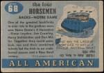 1955 Topps #68   -  Jim Crowley / Elmer Layden / Don Miller / Harry Stuhldreher Four Horsemen Back Thumbnail