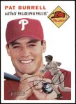 2003 Topps Heritage #11 OLD Pat Burrell   Front Thumbnail