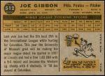 1960 Topps #512  Joe Gibbon  Back Thumbnail