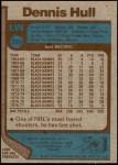 1977 Topps #225  Dennis Hull  Back Thumbnail