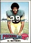 1975 Topps #261  Al Matthews  Front Thumbnail