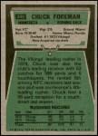 1975 Topps #240  Chuck Foreman  Back Thumbnail