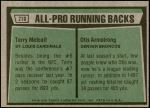 1975 Topps #210   -  Terry Metcalf / Otis Armstrong All-Pro Running Backs Back Thumbnail