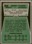 1975 Topps #131  Jerry Tagge  Back Thumbnail