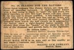 1933 DeLong Gum R333 #18  Jimmy Dykes  Back Thumbnail