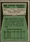 1975 Topps #403  Roger Wehrli  Back Thumbnail