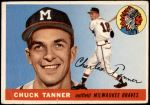 1955 Topps #161  Chuck Tanner  Front Thumbnail