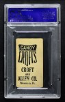 1909 E92 Croft's Candy  Sam Crawford  Back Thumbnail