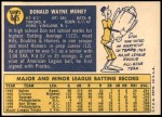 1970 Topps #645  Don Money  Back Thumbnail