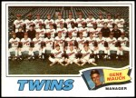 1977 Topps #228   -  Gene Mauch Twins Team Checklist Front Thumbnail