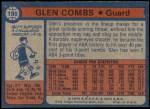 1974 Topps #199  Glen Combs  Back Thumbnail