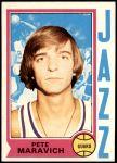 1974 Topps #10  Pete Maravich  Front Thumbnail