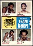 1974 Topps #86   -  Stu Lantz / Bob Lanier / Dave Bing Pistons Leaders Front Thumbnail