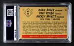 1953 Bowman #44  Mickey Mantle / Yogi Berra / Hank Bauer  Back Thumbnail