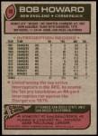 1977 Topps #88  Bob Howard  Back Thumbnail