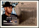 1996 Topps #219  Derek Jeter  Back Thumbnail