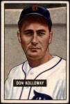 1951 Bowman #105  Don Kolloway  Front Thumbnail