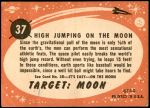 1958 Topps Target Moon #37   High Jumping on the Moon Back Thumbnail