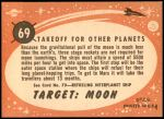 1958 Topps Target Moon #69   Takeoff for Other Planets Back Thumbnail