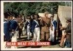 1956 Topps Davy Crockett Orange Back #5   Bear Meat For Dinner  Front Thumbnail