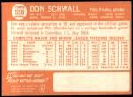 1964 Topps #558  Don Schwall  Back Thumbnail