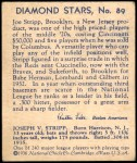 1935 Diamond Stars #89  Joe Stripp   Back Thumbnail