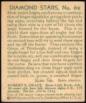 1935 Diamond Stars #69  Earl Grace   Back Thumbnail