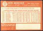 1964 Topps #542  Don Mincher  Back Thumbnail