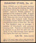 1935 Diamond Stars #87  Steve O'Neill    Back Thumbnail