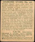 1935 Diamond Stars #46  Red Lucas   Back Thumbnail