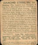1935 Diamond Stars #27  Pie Traynor   Back Thumbnail