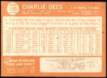 1964 Topps #159  Charlie Dees  Back Thumbnail