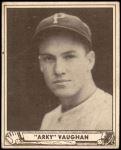 1940 Play Ball #107  Arky Vaughan  Front Thumbnail