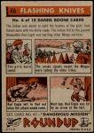 1956 Topps Round Up #46   -  Daniel Boone  Flashing Knives Back Thumbnail
